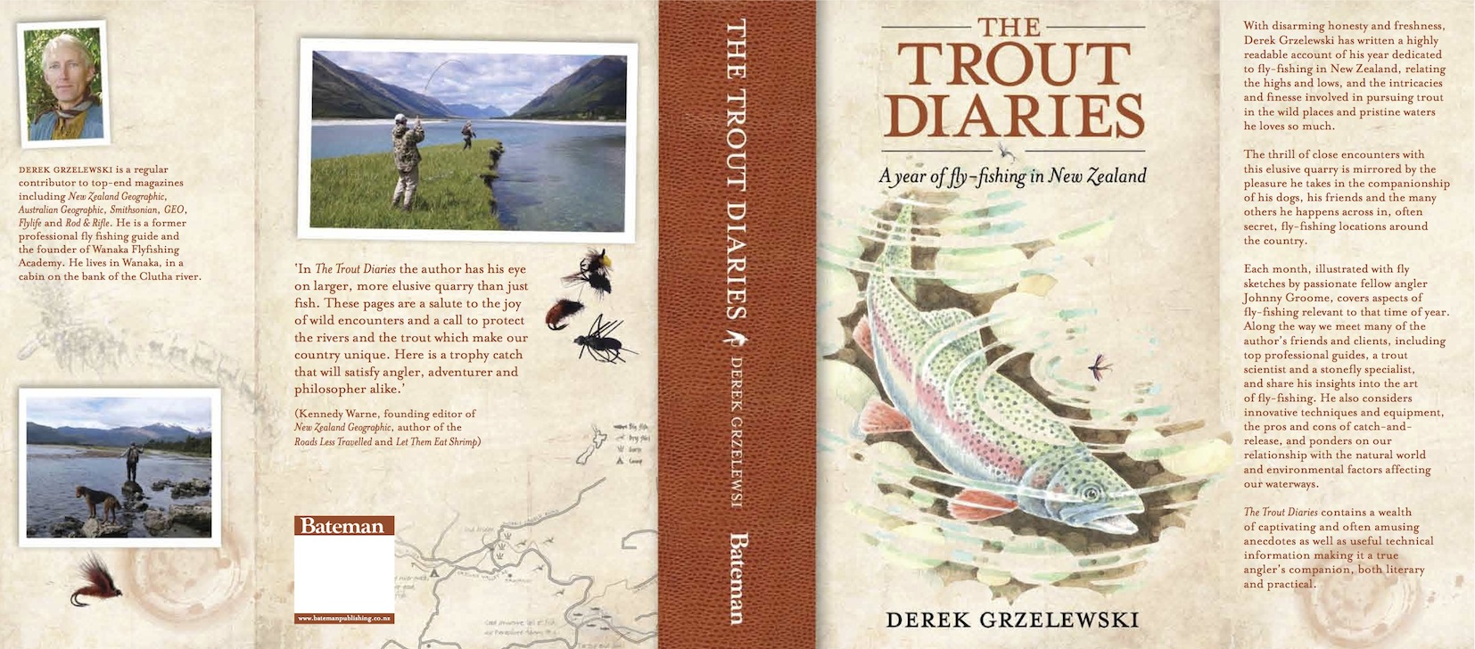 Trout diaries jacket copy